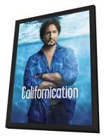 Californication (TV) - 27 x 40 TV Poster - Style B - in Deluxe Wood Frame