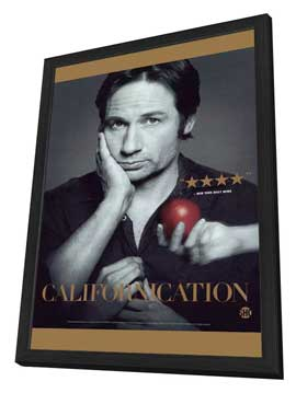 Californication (TV) - 27 x 40 TV Poster - Style A - in Deluxe Wood Frame