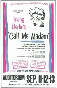 Call Me Madam (Broadway) - 11 x 17 Poster - Style A