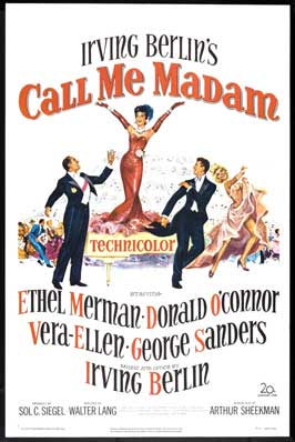 Call Me Madam - 11 x 17 Movie Poster - Style A