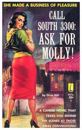 Call South 3300: Ask For Molly! - 11 x 17 Retro Book Cover Poster