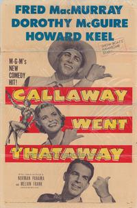 Callaway Went That-Away - 27 x 40 Movie Poster - Style A