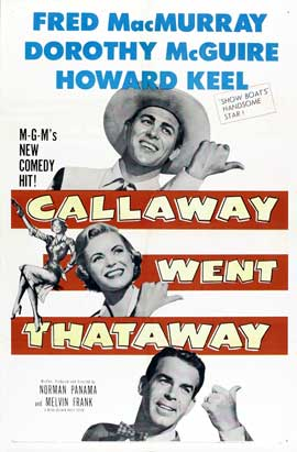 Callaway Went That-Away - 27 x 40 Movie Poster - Style B