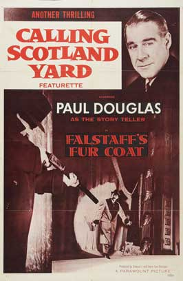 Calling Scotland Yard: Falstaff's Fur Coat - 27 x 40 Movie Poster - Style A