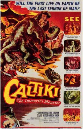 Caltiki the Immortal Monster - 11 x 17 Movie Poster - Style A
