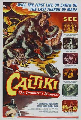 Caltiki the Immortal Monster - 27 x 40 Movie Poster - Style Z