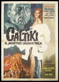 Caltiki the Immortal Monster - 27 x 40 Movie Poster - Italian Style A