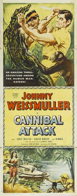 Cannibal Attack - 14 x 36 Movie Poster - Insert Style A