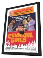 Cannibal Girls - 27 x 40 Movie Poster - Style A - in Deluxe Wood Frame