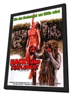 Cannibal Holocaust - 27 x 40 Movie Poster - German Style A - in Deluxe Wood Frame