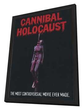 Cannibal Holocaust - 27 x 40 Movie Poster - Style B - in Deluxe Wood Frame