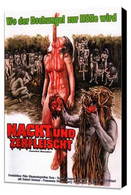 Cannibal Holocaust - 27 x 40 Movie Poster - German Style A - Museum Wrapped Canvas