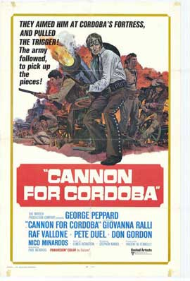Cannon for Cordoba - 11 x 17 Movie Poster - Style A