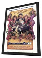 Cannonball Run 2 - 11 x 17 Movie Poster - Style A - in Deluxe Wood Frame
