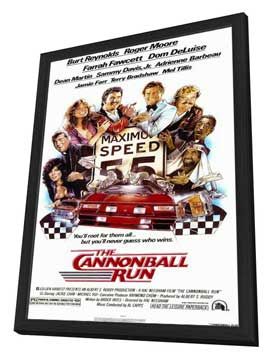 Cannonball Run - 11 x 17 Movie Poster - Style A - in Deluxe Wood Frame