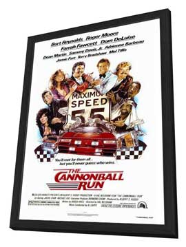 Cannonball Run - 27 x 40 Movie Poster - Style A - in Deluxe Wood Frame