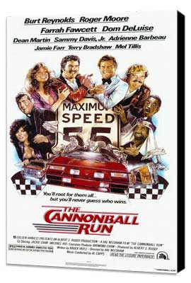 Cannonball Run - 11 x 17 Movie Poster - Style A - Museum Wrapped Canvas
