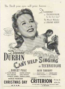 Can't Help Singing - 11 x 17 Movie Poster - Style A