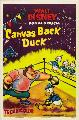 Canvas Back Duck - 11 x 17 Movie Poster - Style A