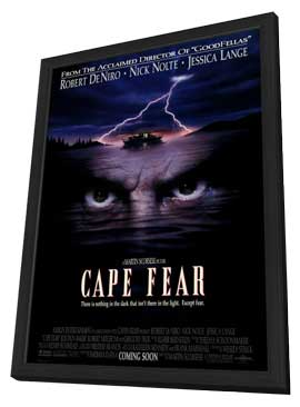 Cape Fear - 27 x 40 Movie Poster - Style B - in Deluxe Wood Frame