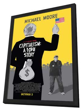 Capitalism: A Love Story - 11 x 17 Movie Poster - Style A - in Deluxe Wood Frame