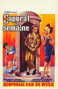 Caporale di giornata - 11 x 17 Movie Poster - Belgian Style A