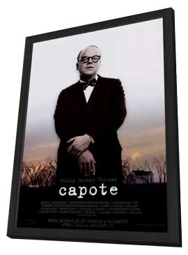 Capote - 27 x 40 Movie Poster - Style A - in Deluxe Wood Frame