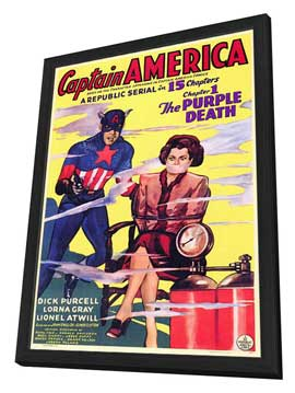 Captain America - 11 x 17 Movie Poster - Style A - in Deluxe Wood Frame