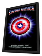 Captain America - 27 x 40 Movie Poster - Style A - in Deluxe Wood Frame