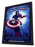 Captain America - 27 x 40 Movie Poster - Style B - in Deluxe Wood Frame