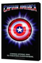 Captain America - 27 x 40 Movie Poster - Style A - Museum Wrapped Canvas