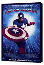 Captain America - 27 x 40 Movie Poster - Style B - Museum Wrapped Canvas