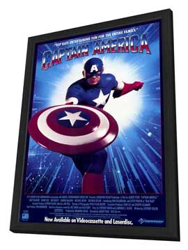 Captain America - 11 x 17 Movie Poster - Style B - in Deluxe Wood Frame