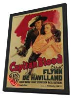 Captain Blood - 11 x 17 Movie Poster - Italian Style A - in Deluxe Wood Frame