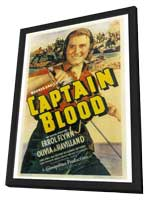 Captain Blood - 27 x 40 Movie Poster - Style A - in Deluxe Wood Frame