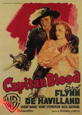 Captain Blood - 11 x 17 Movie Poster - Italian Style A