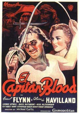 Captain Blood - 11 x 17 Movie Poster - German Style A