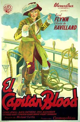 Captain Blood - 27 x 40 Movie Poster - Spanish Style A