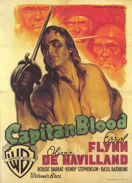 Captain Blood - 11 x 17 Movie Poster - Italian Style B
