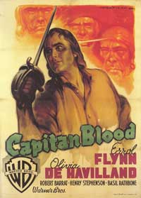 Captain Blood - 43 x 62 Movie Poster - Italian Style B