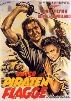 Captain Blood - 11 x 17 Movie Poster - German Style C