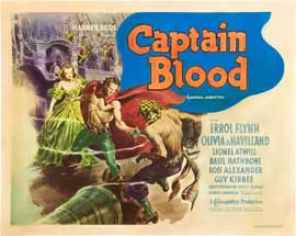 Captain Blood - 22 x 28 Movie Poster - Half Sheet Style A
