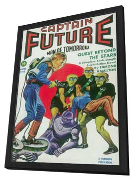 Captain Future (Pulp) - 11 x 17 Pulp Poster - Style A - in Deluxe Wood Frame