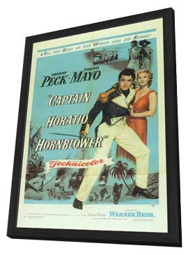 Captain Horatio Hornblower - 11 x 17 Movie Poster - Style A - in Deluxe Wood Frame