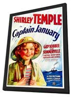 Captain January - 11 x 17 Movie Poster - Style A - in Deluxe Wood Frame