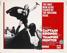 Captain Kronos - Vampire Hunter - 22 x 28 Movie Poster - Half Sheet Style A