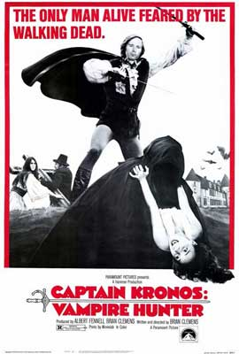 Captain Kronos: Vampire Hunter - 27 x 40 Movie Poster - Style B
