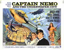 Captain Nemo and the Underwater City - 11 x 14 Movie Poster - Style A