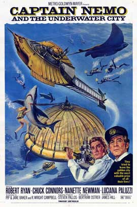 Captain Nemo and the Underwater City - 11 x 17 Movie Poster - Style A