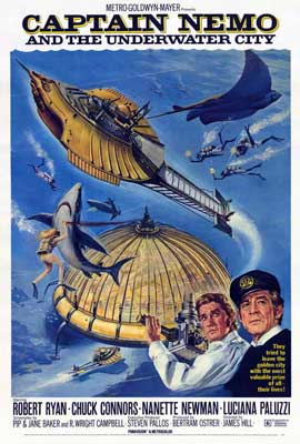 Captain Nemo and the Underwater City - 27 x 40 Movie Poster - Style A